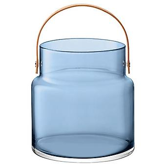 Lsa Utility Pot & Leather Handle H35.5cm Sapphire Blue *