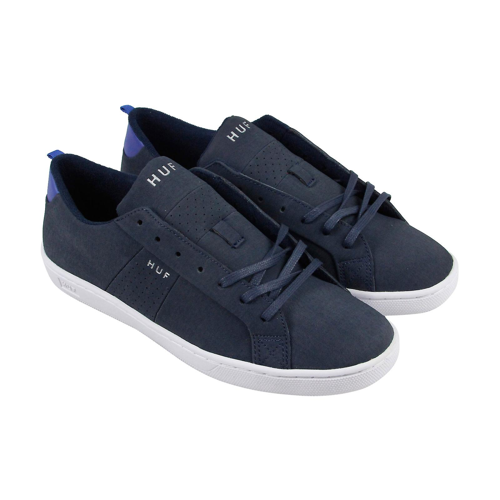 HUF Boyd Mens Blue Canvas Sneakers Scarpe stringate