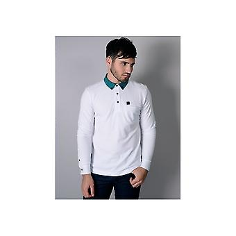 Voi Jeans Vince Pique Long Sleeve White Polo
