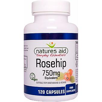 Natures Aid Rosehip 750mg , 120 VegiCaps. Suitable for Vegans.