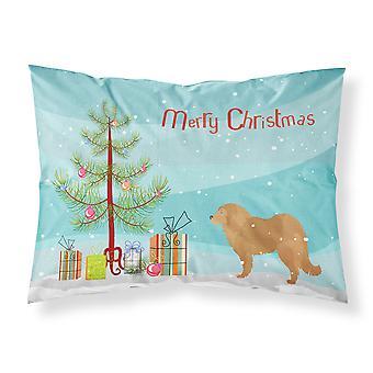 الكلب الراعي قوقازي شجرة عيد الميلاد ميلاد سعيد النسيج القياسية وسادة