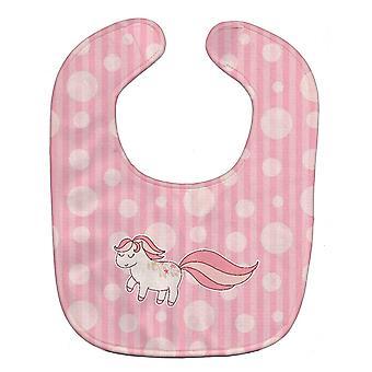 Carolines Treasures  BB7061BIB Little Pink Pony Polkadots Baby Bib