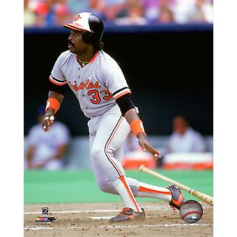 Eddie Murray 1977 Action Photo Print