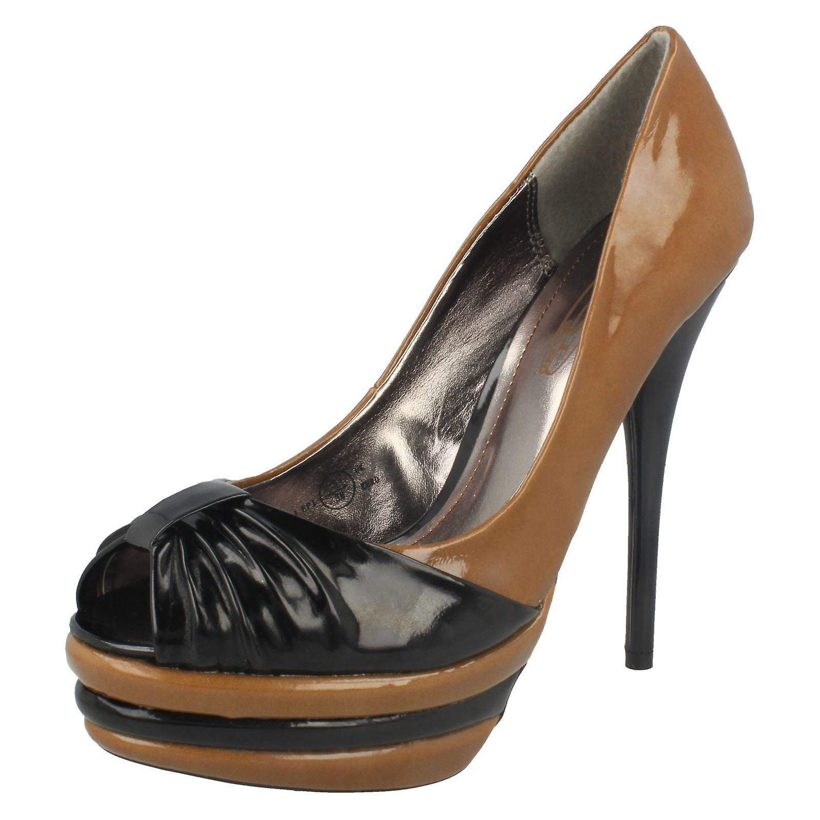 Heels Spot High Platform Toe Peep On Ladies nYWRqzn
