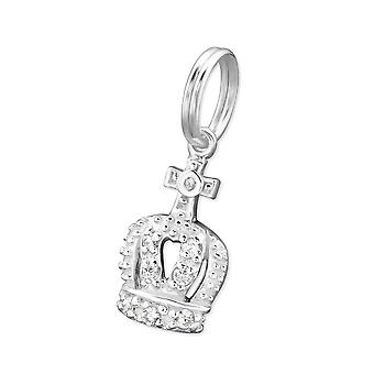 Crown - 925 Sterling Silver Charms with Split ring