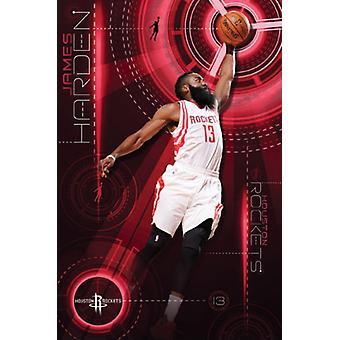 Houston Rockets - James Harden 15 Poster Poster Print