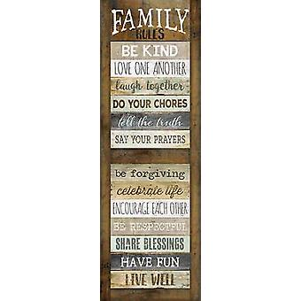 Family Rules Shutter Poster Print by Marla Rae (12 x 36)