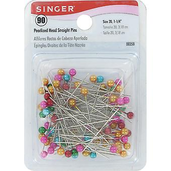 Pearlized Head Straight Pins 90 Pkg 358