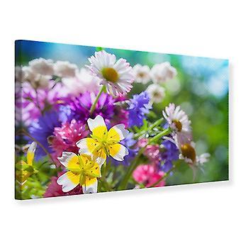 Lærred Udskriv XXL haven blomster