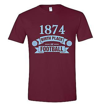 Aston Villa fødselen av fotball t-skjorte (claret)