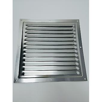 Air Vent Grill - 250 x 250 mm métal - Aluminium rouille libre avec moustique / Bug Net