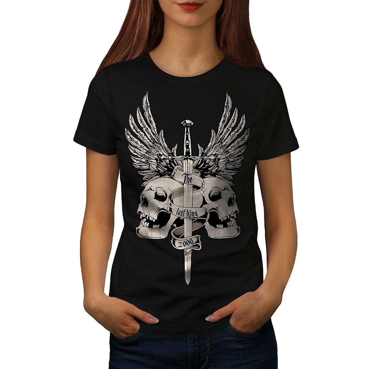 The Last King Death Skull Women Black T-shirt | Wellcoda