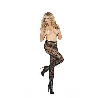 Elegant Moments  EM-1139 Sheer pantyhose with geometric pattern