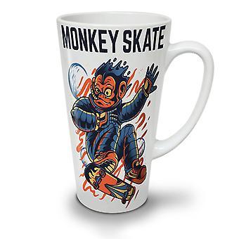 Monkey Skate NEW White Tea Coffee Ceramic Latte Mug 17 oz   Wellcoda