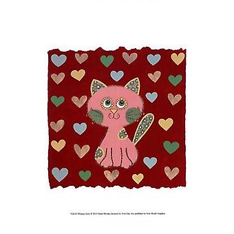 Whimsy Kitty Poster Print by Helen Rhodes (10 x 13)