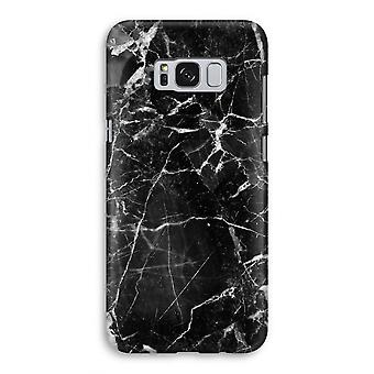 Samsung Galaxy S8 Full Print mål - svart marmor 2