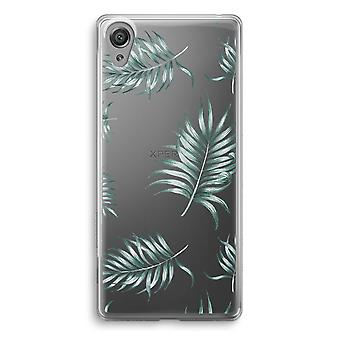 Sony Xperia XA1 Transparent Case (Soft) - Simple leaves