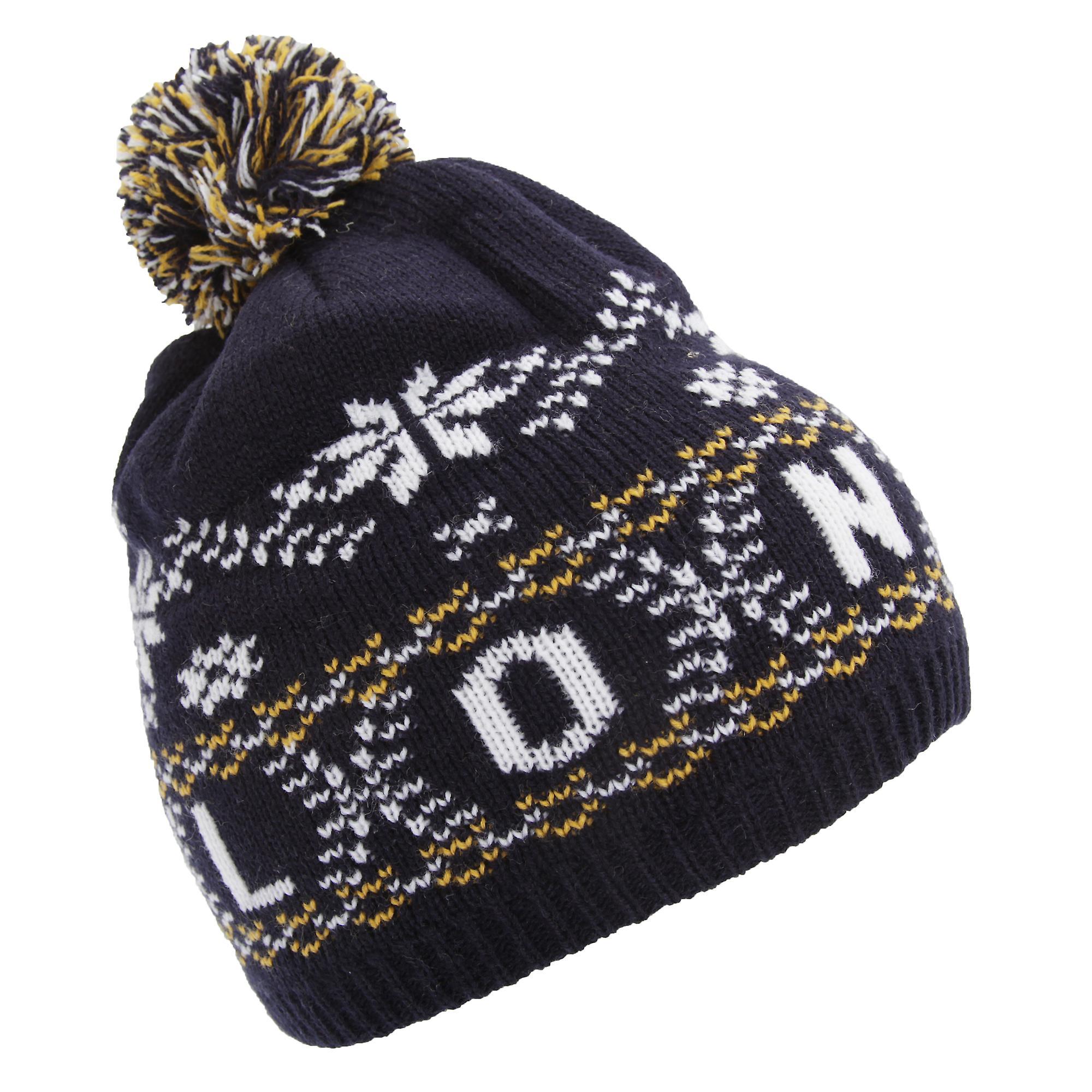 Childrens/Kids Fairisle Pattern London Winter Bobble Hat