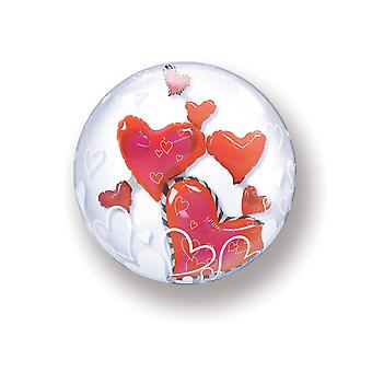 Balloon double Bubbel ball heart wedding about 55cm