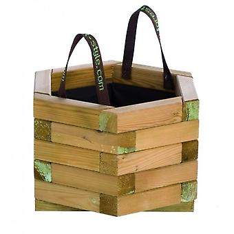 Forest Style Baroque planter with handles and hexagonal geotextile