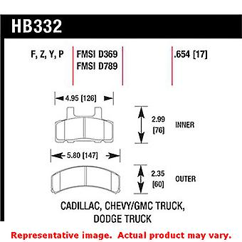 Hawk Truck/SUV Brake Pads HB332P.654 Fits:CADILLAC 1992 - 1992 COMMERCIAL CHASS