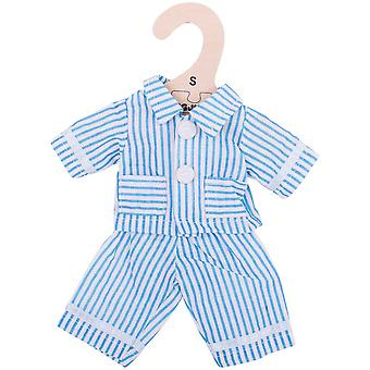 Bigjigs Toys Blue Striped Rag Doll Pyjamas for 28cm Soft Doll