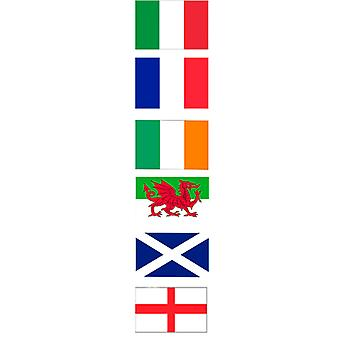 Rugby 6 Nationen Polyester Bunting