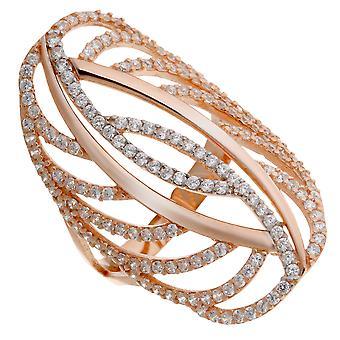 Orphelia plata 925 anillo Bicoloror circonio ZR-7002