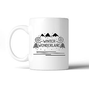 Winter Wonderland Linda taza de cerámica 11oz regalos únicos para ella