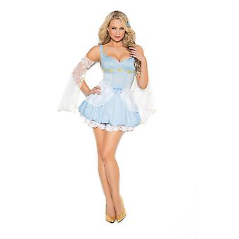 Elegant Moments Womens Sexy Cinder Babe Storybook Halloween Roleplay Costume