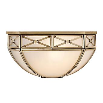 Interiors 1900 Bannerman White Frosted Tiffany Wall Lamp
