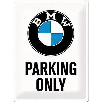 BMW Parking tylko duże metalowe tłoczone Zarejestruj 400 X 300 Mm