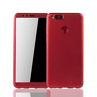 Huawei honor 7 X phone case protective case full cover tank protection glass Red