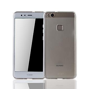 Huawei P10 Lite celular escudo proteção caso Fullcover tanque proteção vidro transparência