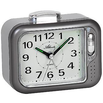 Atlanta 1942/4 alarm clock quartz analog anthracite Bell or beep tone