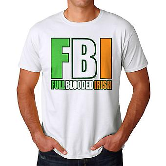 Full Blooded Irish Graphic Men's White T-shirt