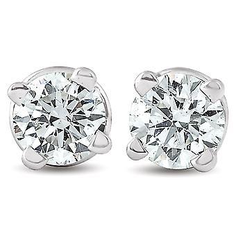 1 / 4ct Diamond hengsten 14K White Gold