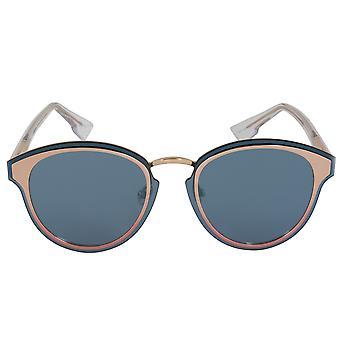 Christian Dior Nightfall Sunglasses 35J2A 65 | Rose Gold Frame | Blue Mirrored Lenses