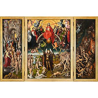 Last Judgement, Hans Memling, 40x60cm with tray
