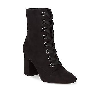BCBGeneration Womens Alexa Velvet Fabric Closed Toe Ankle Fashion Boots