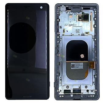 Sony display LCD komplet enhed med ramme for 1315-5027 Xperia XZ3 H8416 H9436 H9493 hvid sølv nye reservedele