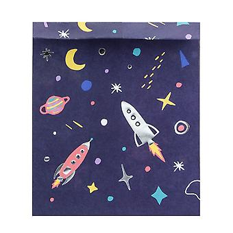 Space Party Birthday Party Treat Bags and Stickers x 6