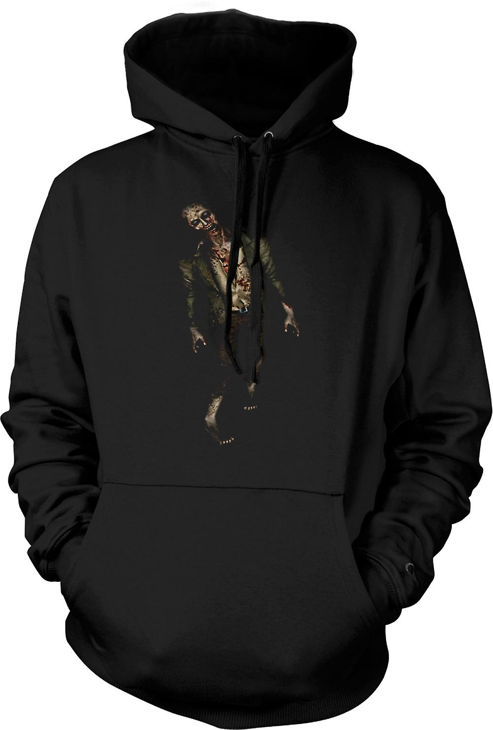 Mens Hoodie - Zombie Undead Walking - Horror