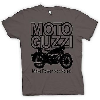 Mens T-shirt - Moto Guzzi Make Power Not Noise