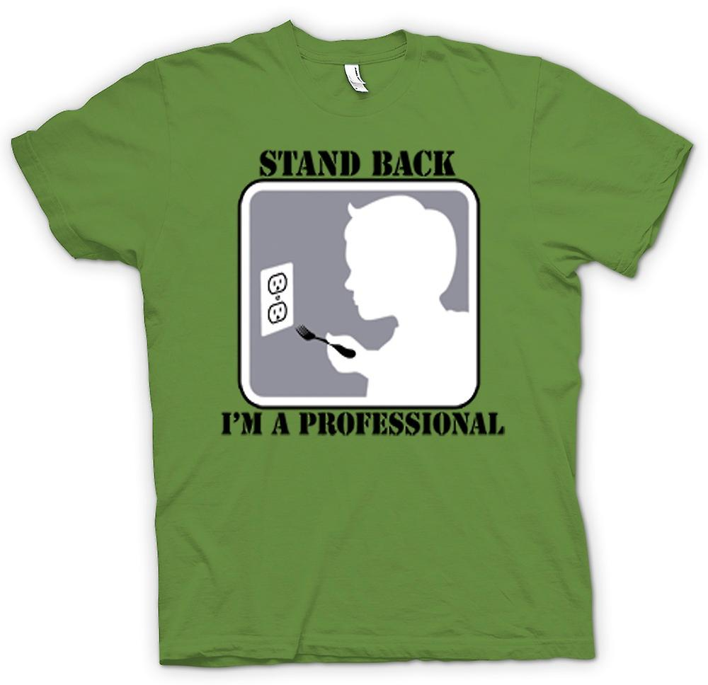 Mens T-shirt - Stand Back I'm A Professional