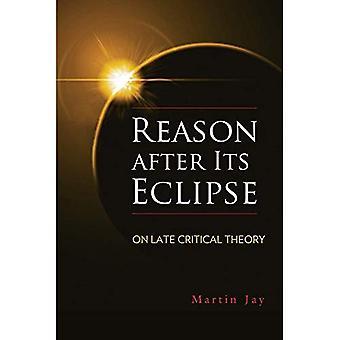 Raison, après son éclipse: sur la théorie critique fin - George L. Mosse série dans l'histoire culturelle et intellectuelle européenne moderne