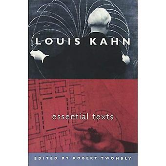 Teksty Essentials Louis Kahn: Podstawowe teksty