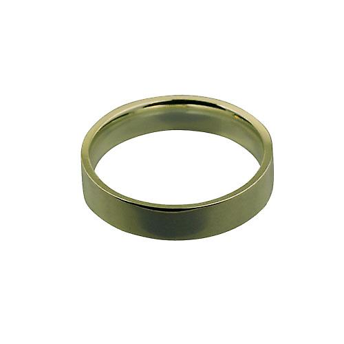 9ct Gold 5mm plain Flat Court shaped Wedding Ring