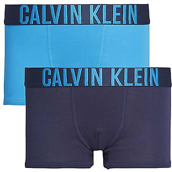 Calvin Klein Boys 2 Pack intens Power Boxer stam, blauw / Marine, X-Large