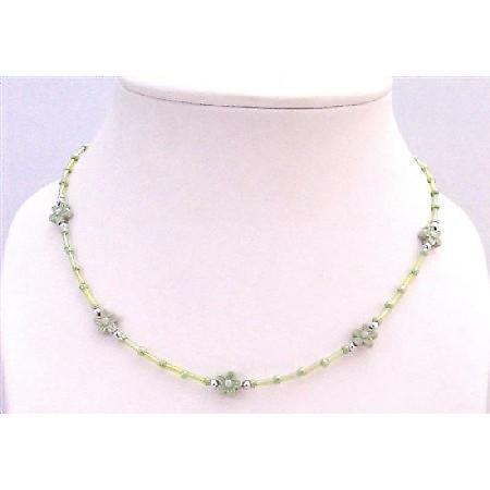 Girls Return Gift Necklace Grey Pipe White Grey Flower Dollar Necklace